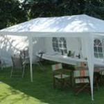 How to Decorate a Tent for an Evening Garden Party