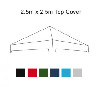 2.5m x 2.5m Pop Up Gazebo Replacement Cover