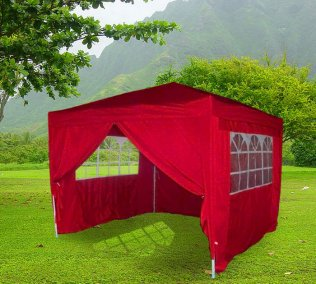 3m x 3m Heavy Duty Pop Up Gazebo - Red