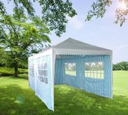 3m x 6m White/Blue Striped Marquee