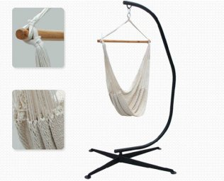 Comfortable Hammock Chair with Heavy Duty Steel Frame