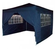 3m x 3m Heavy Duty Pop Up Gazebo - Navy Blue