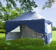 3m x 4.5m Pyramid Roof Pop Up Gazebo - Navy Blue