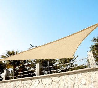 High Density 3.6m Triangle Sail Canopy - Sand