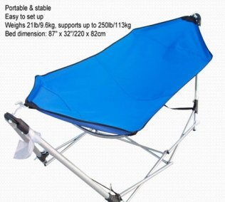 Portable Folding Travel Hammock with Backpack for Camping