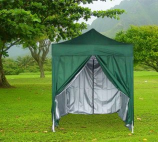 2m x 2m Pyramid Roof Pop Up Gazebo - Green