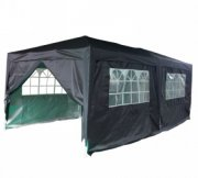 3m x 6m Anti-UV Pop Up Gazebo - Black