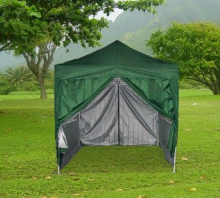 2.5m x 2.5m Pyramid Roof Pop Up Gazebo - Green