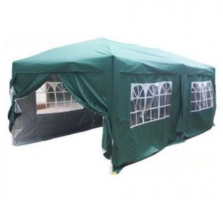 3m x 6m Anti-UV Pop Up Gazebo - Green