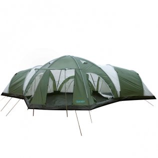 new concept 25f05 0f53b 8 Man 4 Room Dome Family Camping Tent - Green