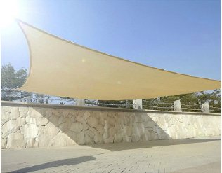 5m x 4m High Density Woven Retangular Shade Sails - Sand