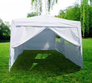 3m x 6m Heavy Duty Pop Up Gazebo - White