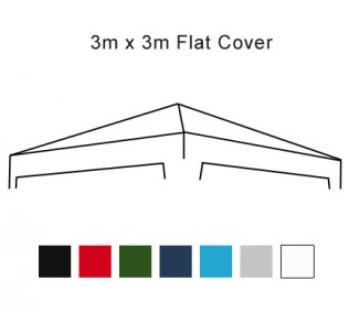 Flat Roof 3m x 3m Pop Up Gazebo Replacement Cover