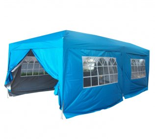 3m x 6m Anti-UV Pop Up Gazebo - Light Blue