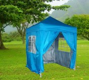 2m x 2m Pyramid Roof Pop Up Gazebo - Light Blue