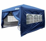 Upgraded 2.5x2.5m Waterproof Pop Up Gazebo-Navy Blue