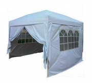 3m x 3m Anti-UV Pop Up Gazebo - Silvery