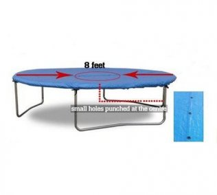 8ft Blue All-Weather-Protection Trampoline Cover