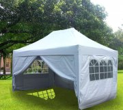 3m x 4.5m Pyramid Roof Pop Up Gazebo - Silvery