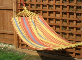 Beautiful Color Stripes Fabric Hammock