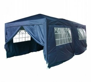3m x 6m Heavy Duty Pop Up Gazebo - Navy Blue