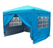 3m x 3m Anti-UV Pop Up Gazebo - Light Blue