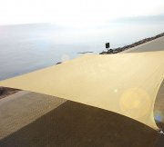 High Density 3.6m Square Sail Canopy - Sand