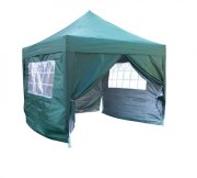 3m x 3m Pyramid Roof Pop Up Gazebo - Green