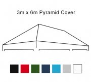 Pyramid Roof 3m x 6m Pop Up Gazebo Replacement Cover