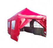 3m x 6m Pyramid Roof Pop Up Gazebo - Red