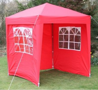 2m x 2m Waterproof Pop Up Gazebo - Red
