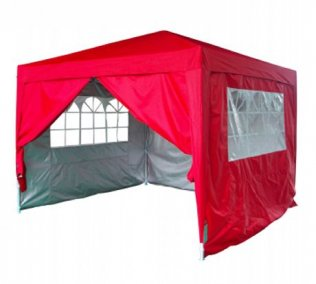 3m x 3m Fire-Retardant Pop Up Gazebo - Red