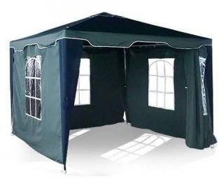 3m x 3m Hunt Green Garden Gazebo