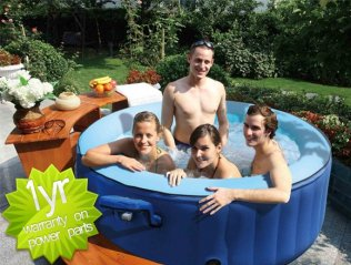 Portable Blue Mspa Spa Hot Tub - 4 man, 211 Gallons