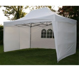 3m x 4.5m Pyramid Roof Pop Up Gazebo - White