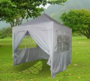 2.5m x 2.5m Pyramid Roof Pop Up Gazebo - Silvery