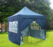 2.5m x 2.5m Pyramid Roof Pop Up Gazebo - Navy Blue