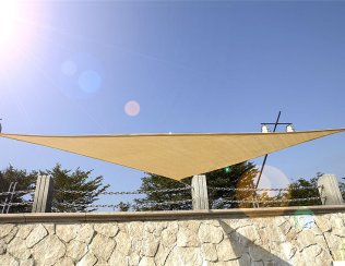 4m High Density Woven Shade Sails - Triangle