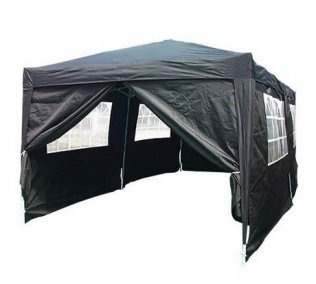 3m x 6m Heavy Duty Pop Up Gazebo - Black