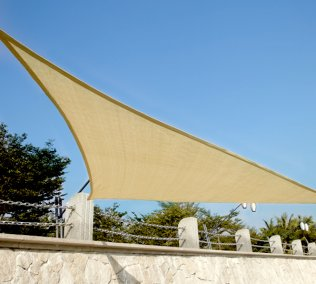 5m High Density Woven Shade Sails - Triangle