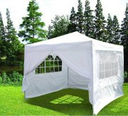 3m x 3m Heavy Duty Pop Up Gazebo - White