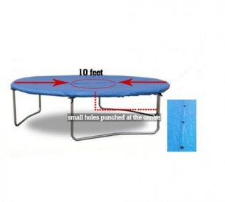 10ft Blue All-Weather-Protection Trampoline Cover