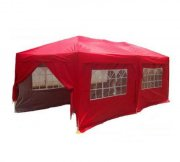 3m x 6m Anti-UV Pop Up Gazebo - Red