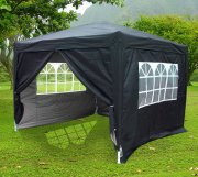 3m x 3m Anti-UV Pop Up Gazebo - Black