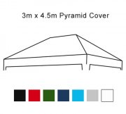 3m x 4.5m Pop Up Gazebo Replacement Cover-Silver