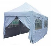 3m x 6m Pyramid Roof Pop Up Gazebo - Silvery