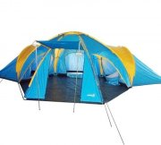 6 - 8 Man 4 Rooms Dome Family Camping Tent - Blue