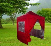 2m x 2m Pyramid Roof Pop Up Gazebo - Red