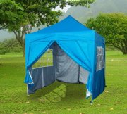 2.5m x 2.5m Pyramid Roof Pop Up Gazebo - Light Blue