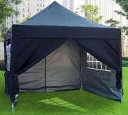 3m x 3m Pyramid Roof Pop Up Gazebo - Navy Blue
